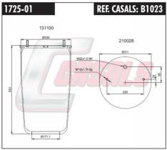 CASALS B1023 - FUELLE SUS.NEUMATICA 716N