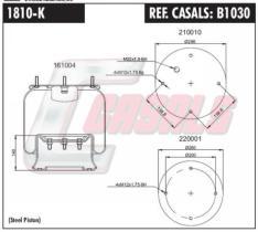 CASALS B1030 - SUSP. NEUMATICA SEMICOMPLETA 810 MB/0
