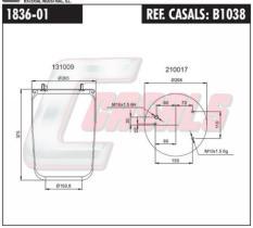 CASALS B1038 - SUS.NEUMATICA SAF,ROR,LECITRAILER