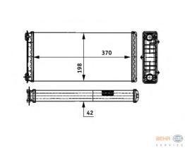 Hella 8FH351312181 - Radiador de calefacción  RENAULT MASTER II 97