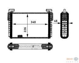 Hella 8FH351312371 - Radiador de calefacción  DAF 432