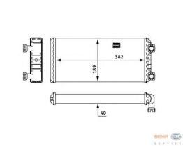 Hella 8FH351312591 - Radiador de calefacción  RENAULT MAGNUM