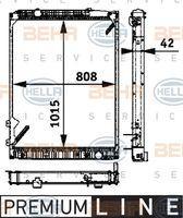 Hella 8MK376721491 - RADIADOR MB ATEGO II