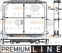 Hella 8MK376721571 - RADIADOR MB ACTROS(SKN V) REFRI V.I