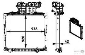 Hella 8MK376721681 - RADIADOR SCANIA R104/DIV. REFRI V.I