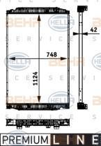 Hella 8MK376721741 -  Radiador refrigeración del motor MAN TGA