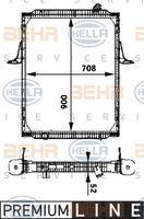 Hella 8MK376722061 -  Radiador refrigeración del motor IVECO