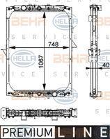 Hella 8MK376722281 - RADIADOR RENAULT KERAX
