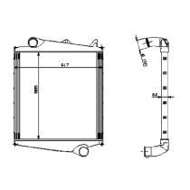 NRF 309011 - Radiador Intercooler MAGNUM