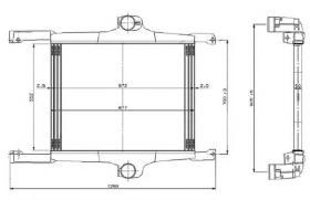 NRF 309272 - Radiador Intercooler MERCEDES ACTROS