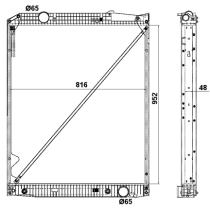 NRF 519577 - Radiador refrigeración DAF XF 105