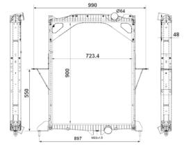 NRF 529701 - Radiador refrigeración RENAULT PREMIUM