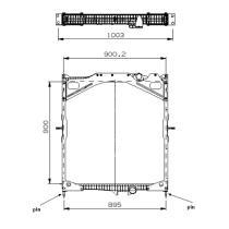 NRF 529702 - Radiador refrigeración motor  VOLVO FM9/FM12