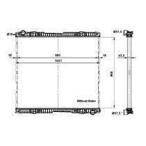 NRF 509739 - Radiador refrigeración  VOLVO FH
