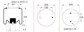 Firestone W01M586238 - Fuelle Suspension Neumatica Semi-completo SIN PISTON