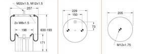 Firestone W01M586318 - Fuelle Suspension MERCEDES
