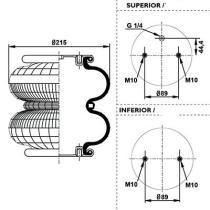 Firestone W01M586887 - Fuelle Suspension SCHMITZ