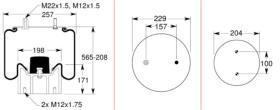 Firestone W01M587074 - FUELLE SUSP.20F 2M10BN1/4BSP SGH R.