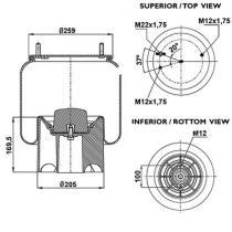 Firestone W01M588608 - Fuelle Suspension VOLVO
