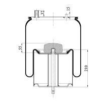 Firestone W01M588786 - Fuelle Suspension IVECO / RENAULT