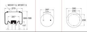 Firestone W01M589910 - Fuelle Suspension FRUEHAUF / SMB