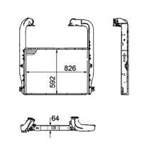 NRF 30223 - Radiador Intercooler RENAULT MAGNUM / PREMIUM