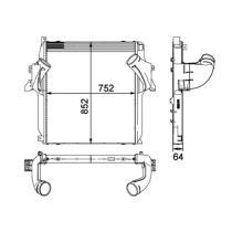 NRF 30905 - Radiador Intercooler SCANIA 4 SERIE