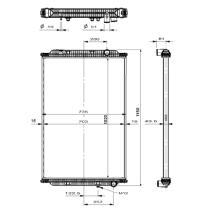 NRF 58402 - Radiador refrigeracion IVECO EUROTECH 99-