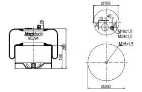 Black Tech RL95294C1 - Fuelle Suspension IVECO / MAN