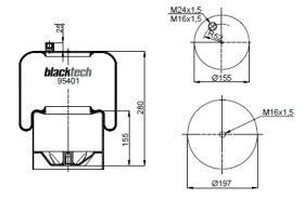 Black Tech RL95401C1 - Fuelle Suspension MERCEDES