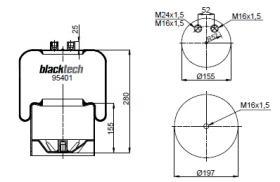 Black Tech RL95401C2 - Fuelle Suspension MERCEDES