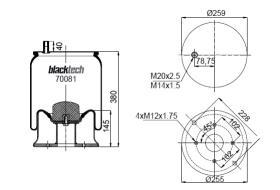 Black Tech RML70081C - Fuelle Suspension IVECO / MAN