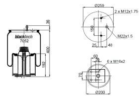 Black Tech RML7052CP - Fuelle Suspension BPW