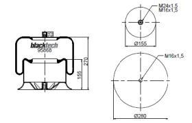 Black Tech RL95868C1 - Fuelle Suspension MERCEDES