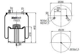 Black Tech RML75023C10 - Fuelle Suspension RENAULT