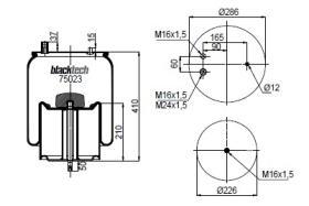 Black Tech RML75023C - FUELLE SUSPENSION RVI 4911NP 03
