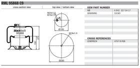 Black Tech RL95868C9 - Fuelle Suspension MERCEDES