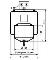 Firestone W01M588472 - Fuelle Suspension SCHMITZ CARGOBULL / MERITOR