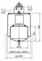 Firestone W01M588477 - Fuelle Suspension VOLVO FH