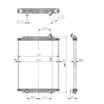 NRF 529563 - Radiador refrigeración  SCANIA  Serie P