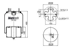 Black Tech RML74760C - FUELLE MERCEDES AD 1D28A13