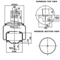 Firestone W01M588661 - Fuelle Suspension IVECO STRALIS