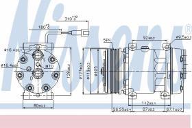 Nissens 89079 -  Compresor aire acondicionado DAF XF95 97-