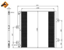 NRF 35901 - PANAL INTERCOOLER RVI