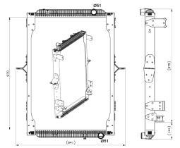 NRF 539564 - Radiador refrigeración motor IVECO