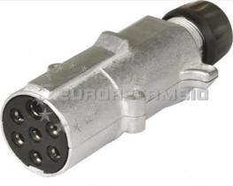 TRUCKLINE 21101300 - Clavija enchufe 7  polos base 24 V Aluminio tipo N