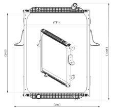NRF 539700 - Radiador refrigeración RENAULT XERAX