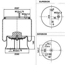 Black Tech RML71901C - Fuelle Suspension   BPW 30