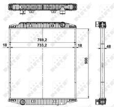 NRF 549568 - Radiador refrigeración  RENAULT KERAX