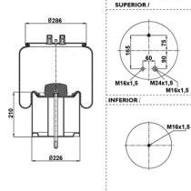 Black Tech RML75023C7 - Fuelle Suspension RENAULT / VOLVO